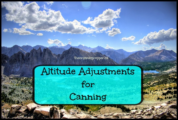 Altitude Adjustments for Canning