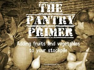 Adding fruits and veggies to the stockpile