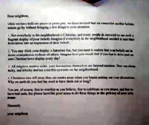 mean christmas letter