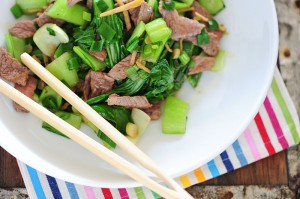ginger beef stirfry