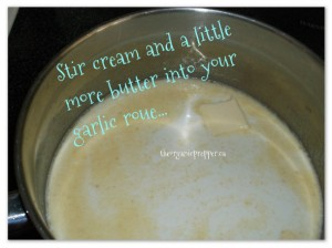 Stir in cream