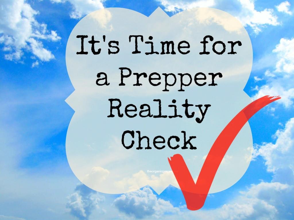 prepper reality check