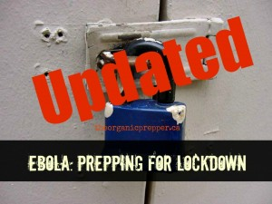 Updated prepping for lockdown