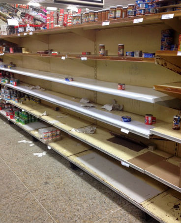 empty shelves in venezuela