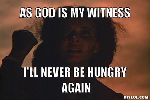 scarlett i'll never be hungry again