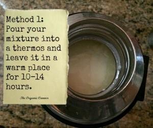 Method 1 for yogurt making