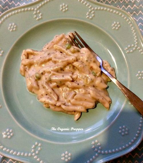 Numanna Pasta Primavera prepared