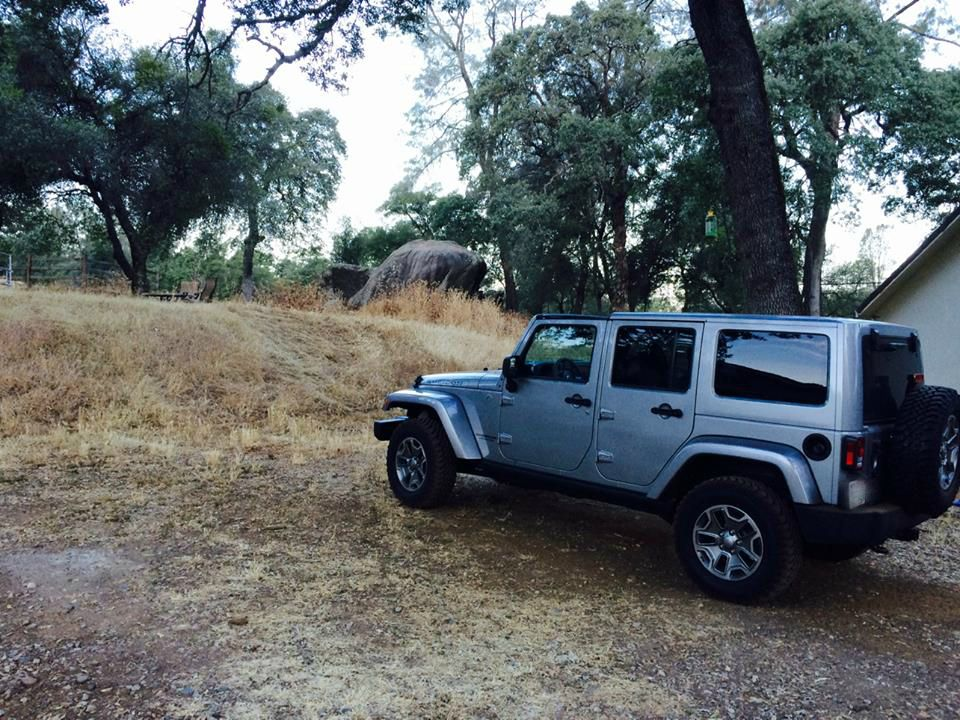 jeep in the yard