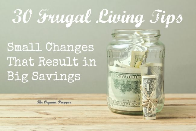 These frugal living tips are very small changes that can result in very big savings.