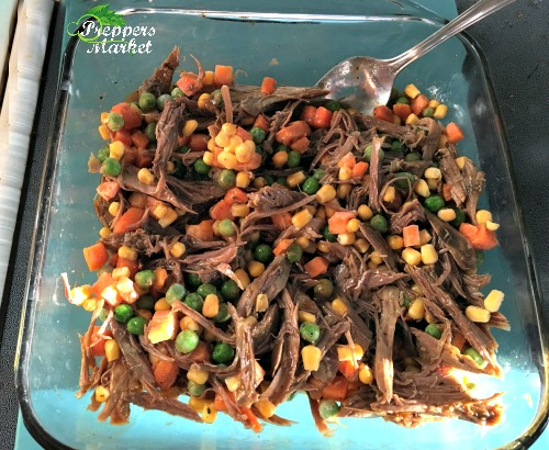 Meat and vegetable mixture