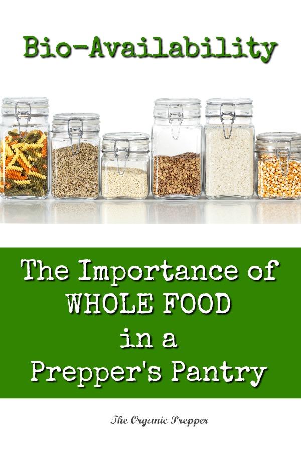 Organic Prepper Foods
