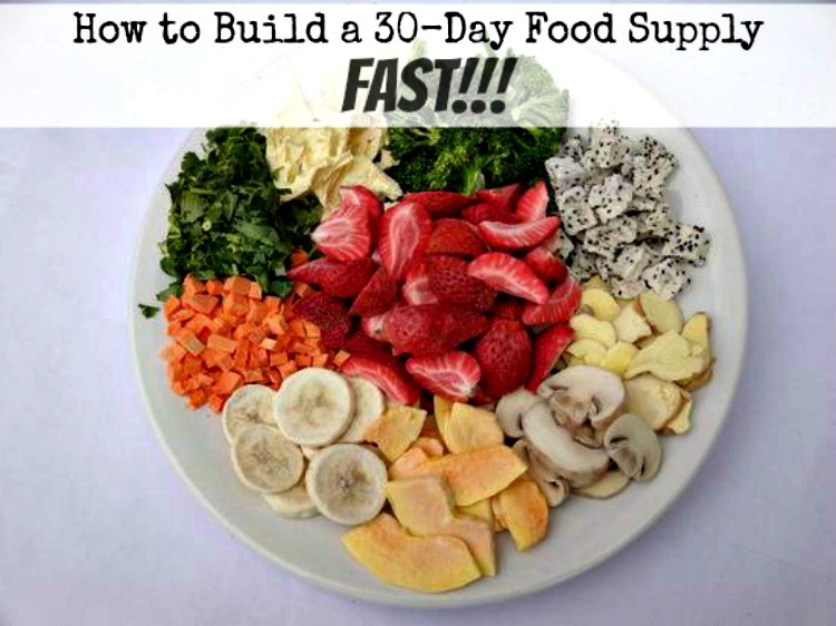 How to Build a 30Day Emergency Food SupplyFast The Organic