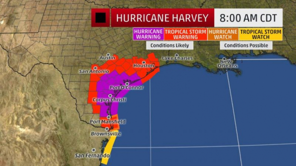 Devastation What We Know About Hurricane Harvey So Far - Us hurricane landfall map