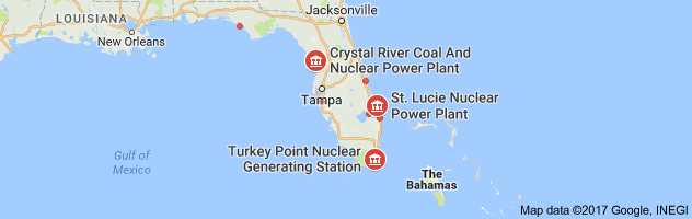 Could Irma Turn Floridas Nuclear Plants Into An American - Us nuclear plant meltdown map