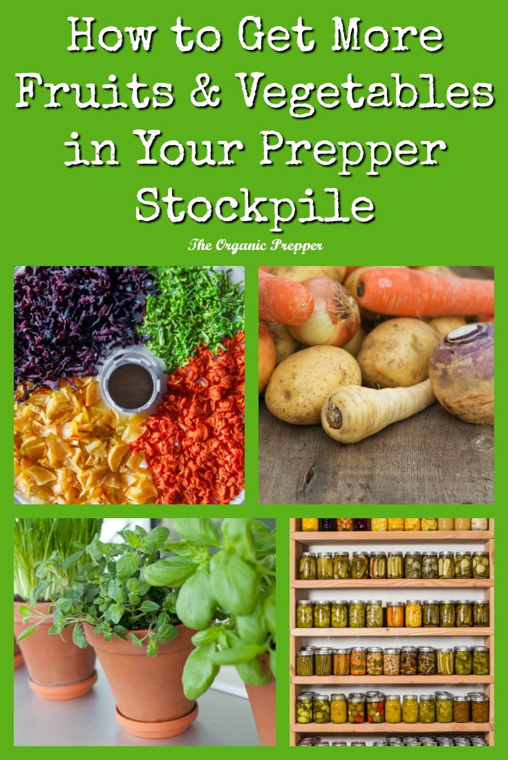 It can be a major challenge when living from your stockpiled foods to get enough fruits and vegetables. These tips can help you, even if you're on a budget.