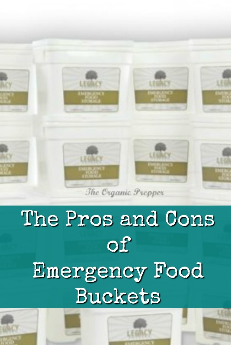 Emergency food buckets can be an essential part of a prepper's pantry. Here are some of the pros and cons of stockpiling them.