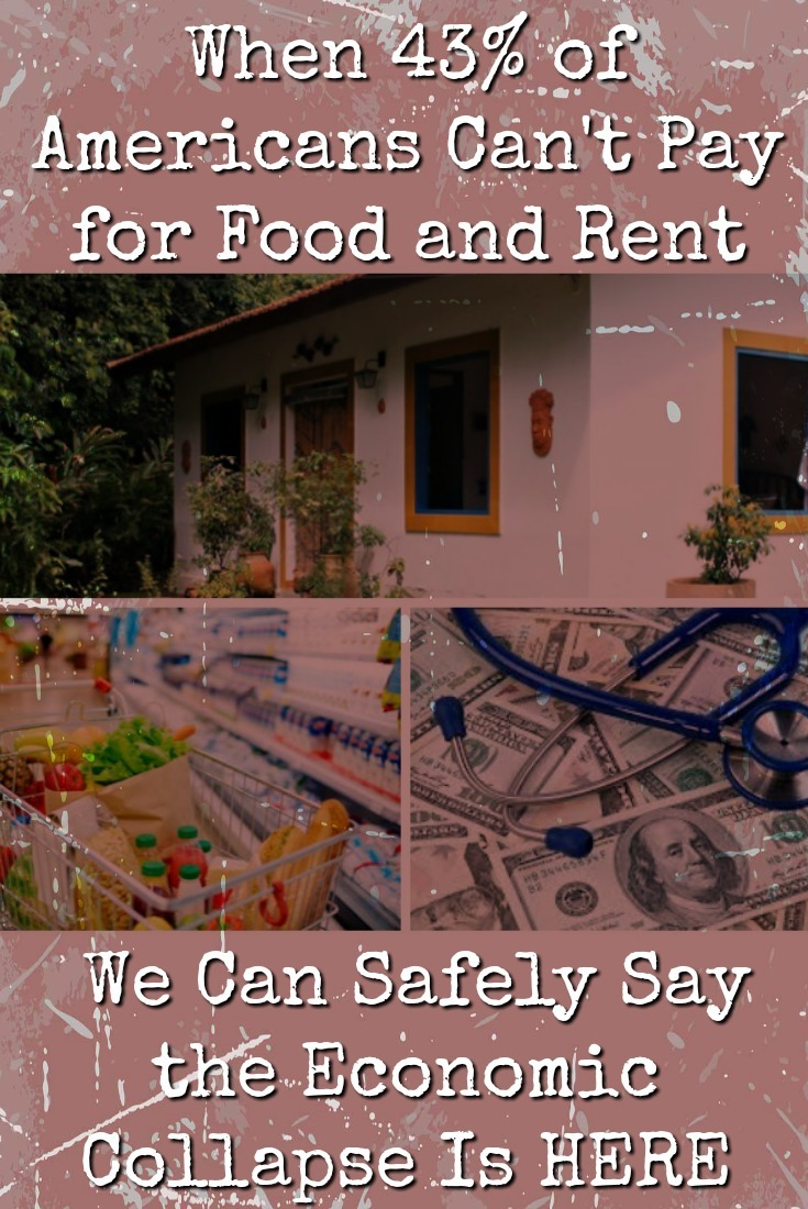 When nearly half of the families in America struggle to pay for food and rent, we can safely say that the economic collapse is not