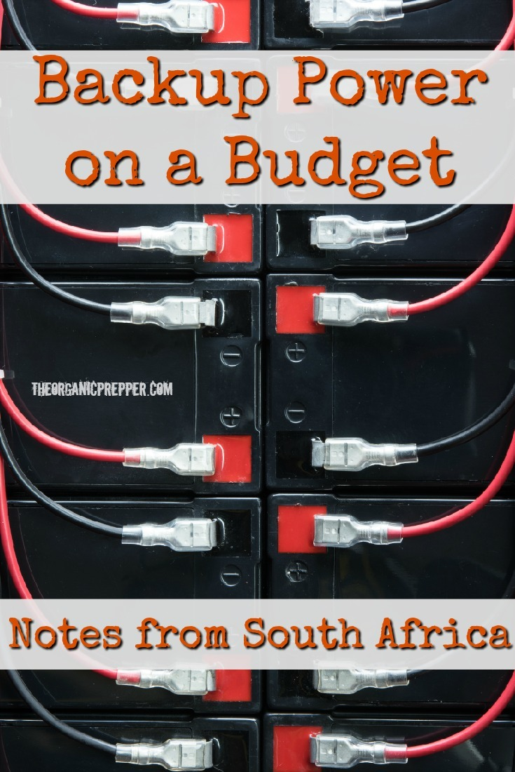 How to Deal with Rolling Blackouts: Notes from South Africa