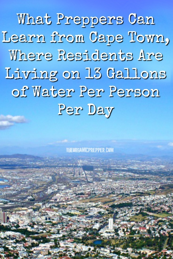 What Preppers Can Learn from Cape Town, Where Residents Live on 13 Gallons of Water Per Person Per Day