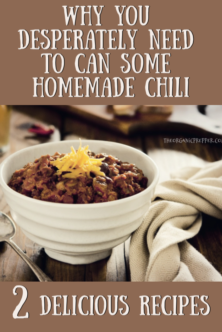 Why You Desperately Need to Can Some Homemade Chili: 2 Delicious Recipes