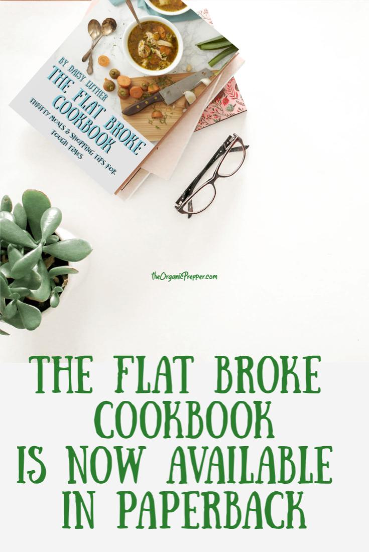 Want The Flat Broke Cookbook in Paperback?