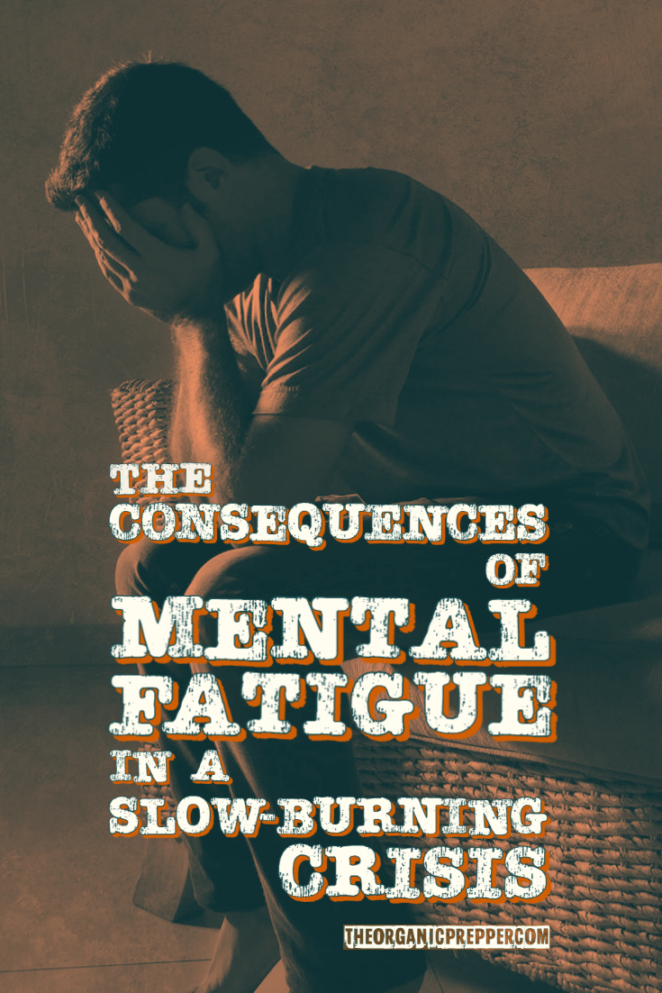 The Consequences of Mental Fatigue in a Slow-Burning Crisis