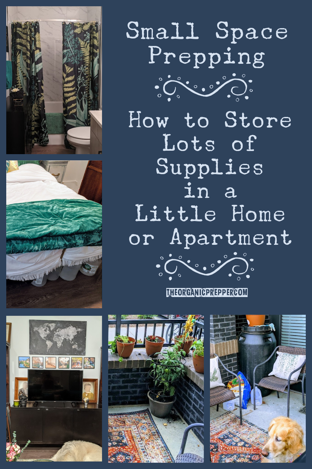 Small Space Prepping: How to Store Lots of Supplies in a Little Home or Apartment